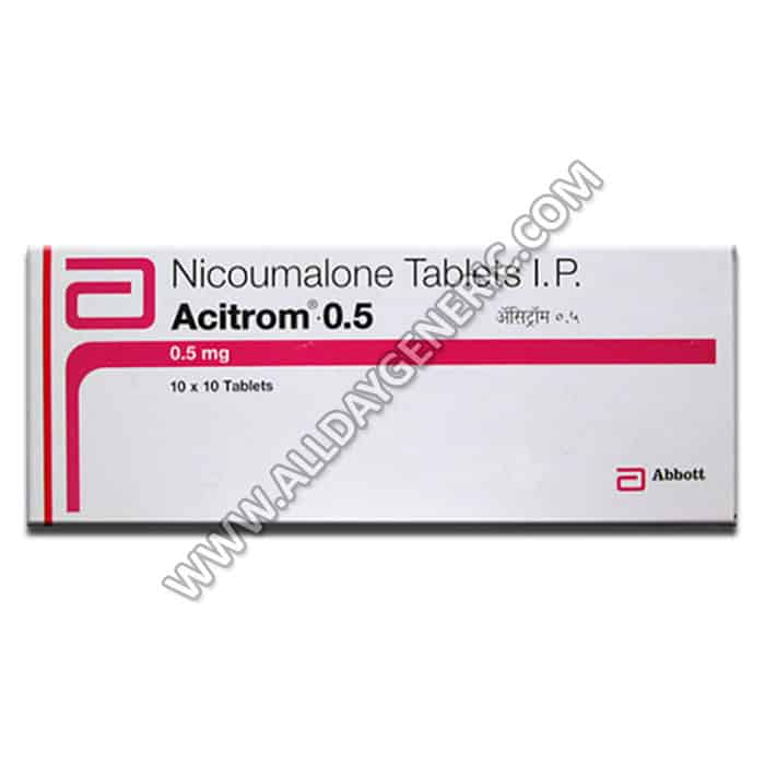 acitrom 0.5 mg tablet (Nicoumalone)