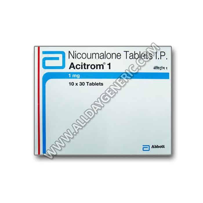 acitrom 1 mg tablet (Nicoumalone)