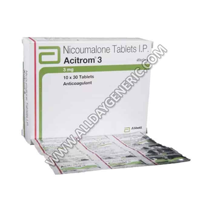 acitrom 3 mg tablet (Nicoumalone)