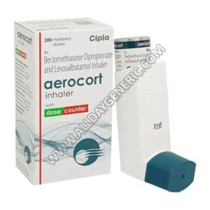 Aerocort inhaler (Beclometasone, Levosalbutamol)