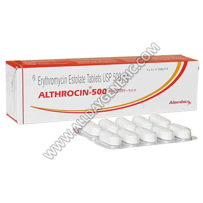 erythromycin 500mg(Althrocin 500 mg)