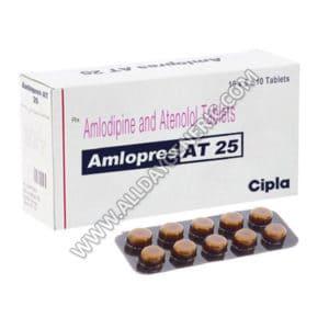 Amlopres AT 25, Amlodipine 5mg+ Atenolol 25mg