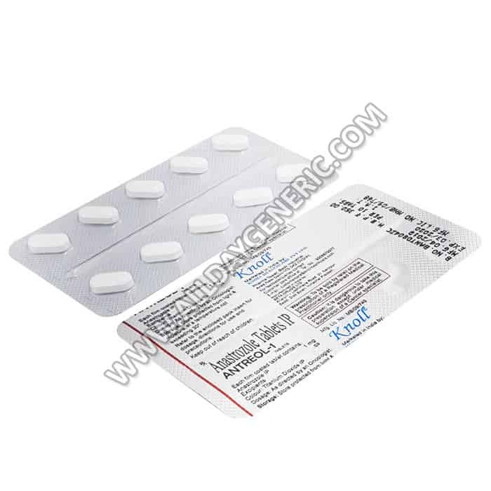 Antreol 1 mg (Anastrozole 1 mg tablet)