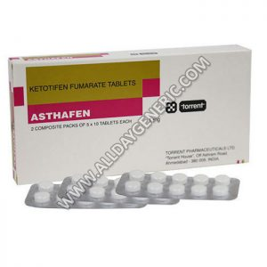 Asthafen 1 mg Tablet, Ketotifen dosage