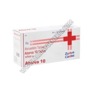 Atorva 10 mg Tablet (Atorvastatin)