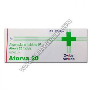 Atorva 20 mg Tablet (Atorvastatin)