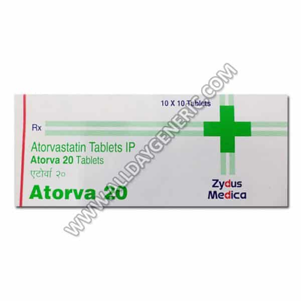 Atorva 20 mg Tablet