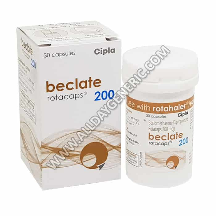 Beclate | Beclate Rotacaps 200 (Beclometasone)