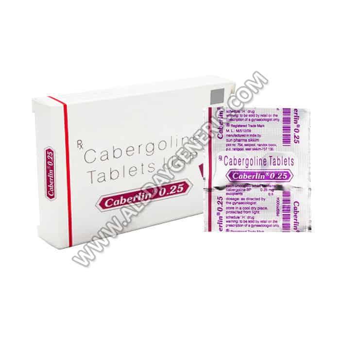cabergoline , Caberlin 0.25 mg