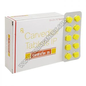 Cardivas 25 mg, Carvedilol 25mg