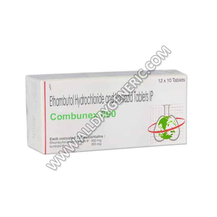 Combunex 800 (Isoniazid 300 mg, Ethambutol 800)