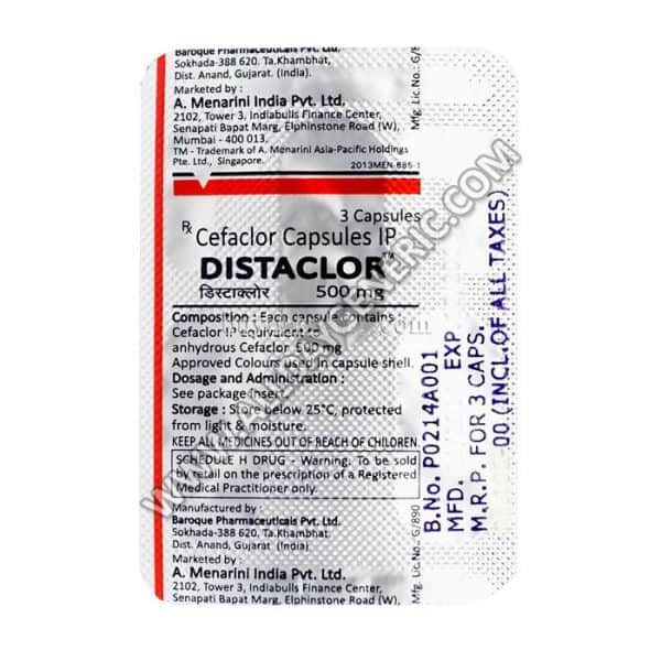 DISTACLOR 500 MG