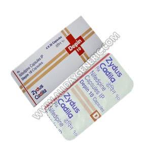 Nifedipine 10 mg (Depin 10 mg Capsule)