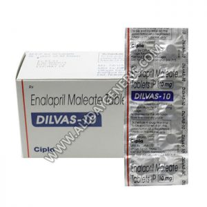 Dilvas 10 mg, Enalapril 10 mg, Hypertension Pills