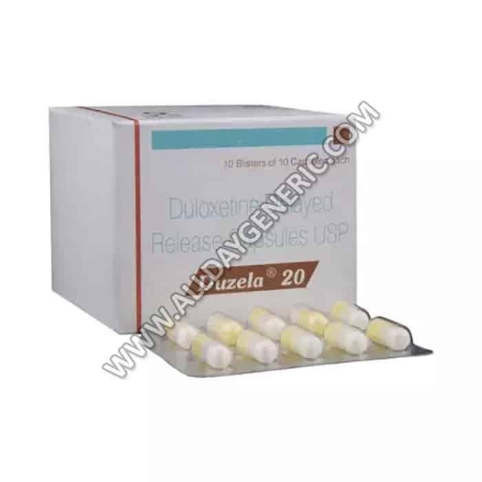 Duloxetine 20 mg, Duloxetine Generic, Duzela 20 mg