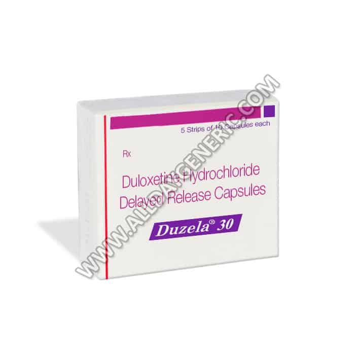 Duzela 30, Duloxetine Generic