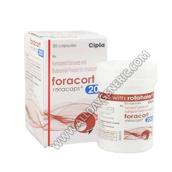 Foracort Rotacaps 200 (Budesonide and Formoterol)