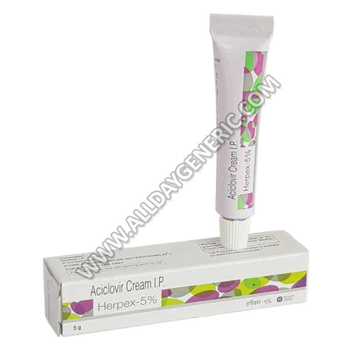 Herpex Cream, acyclovir