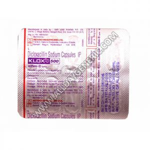 Klox-D 500 mg, dicloxacillin, doxycycline bacterial infection