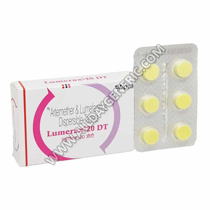 Lumerax Tablet, Artemether Lumefantrine, Lumerax 20 mg Tablet