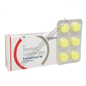 Lumerax 40 mg, Artemether Lumefantrine tablets