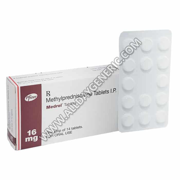 Medrol 16 mg Tablet, Methylprednisolone 16 mg