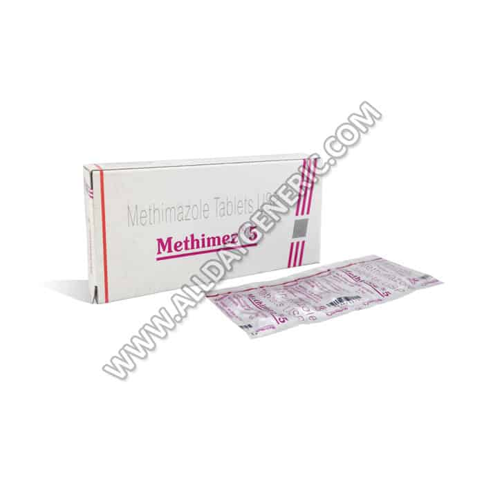 Methimez 5 mg, Methimazole, methimazole 5mg