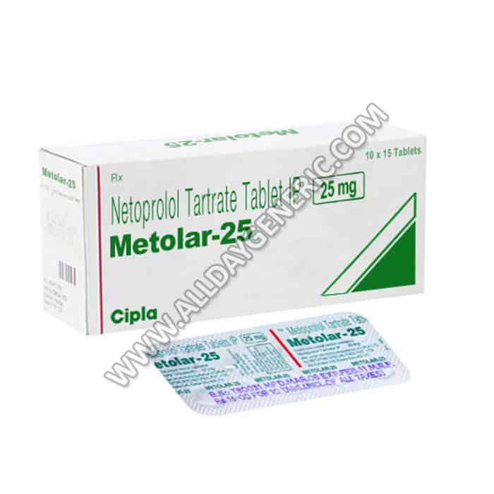 Metolar 25 mg, Generic Metoprolol 25mg Tablets