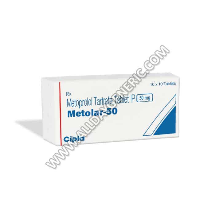 Metolar 50 mg, Metoprolol 50 mg Tablet