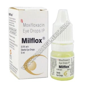 Moxifloxacin eye drops  (Milflox Eye Drops)