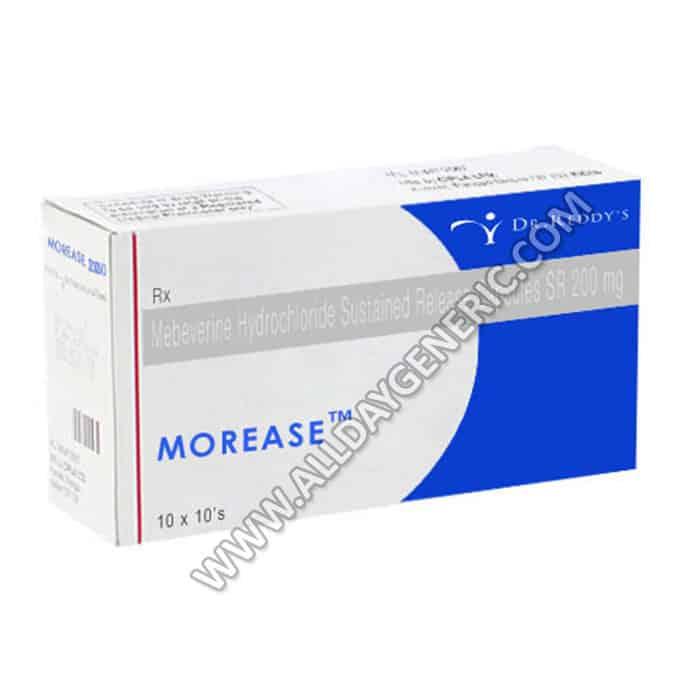 Morease, mebeverine, Morease 200 mg Capsule