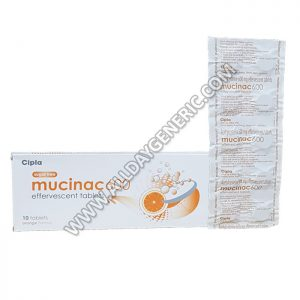 Mucinac 600 mg, Acetylcysteine tablet