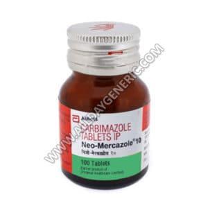 Neo-Mercazole 10 mg, Carbimazole 10mg