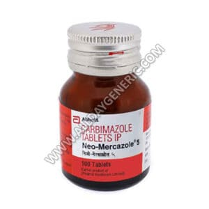 Neo-Mercazole, Neo-Mercazole 5 mg, Carbimazole