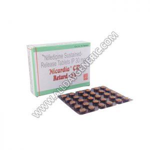 Nifedipine 30 mg (Nicardia CD Retard 30 mg)
