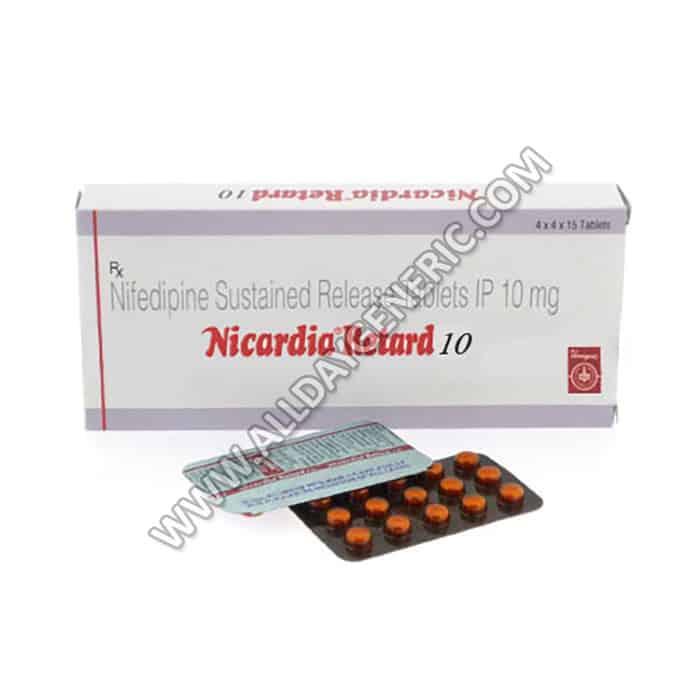 Nifedipine 10 mg (Nicardia Retard 10 mg)
