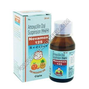 Novamox 125 mg Syrup(Amoxicillin)