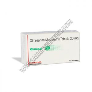 Olmesar 20 Tablets, Olmesartan 20mg