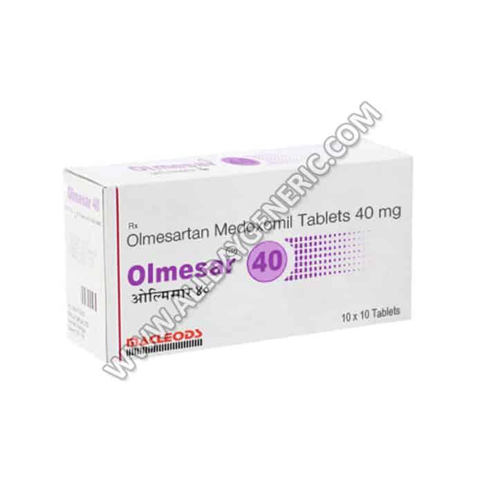 Olmesar 40 tablets, Olmesartan 40mg