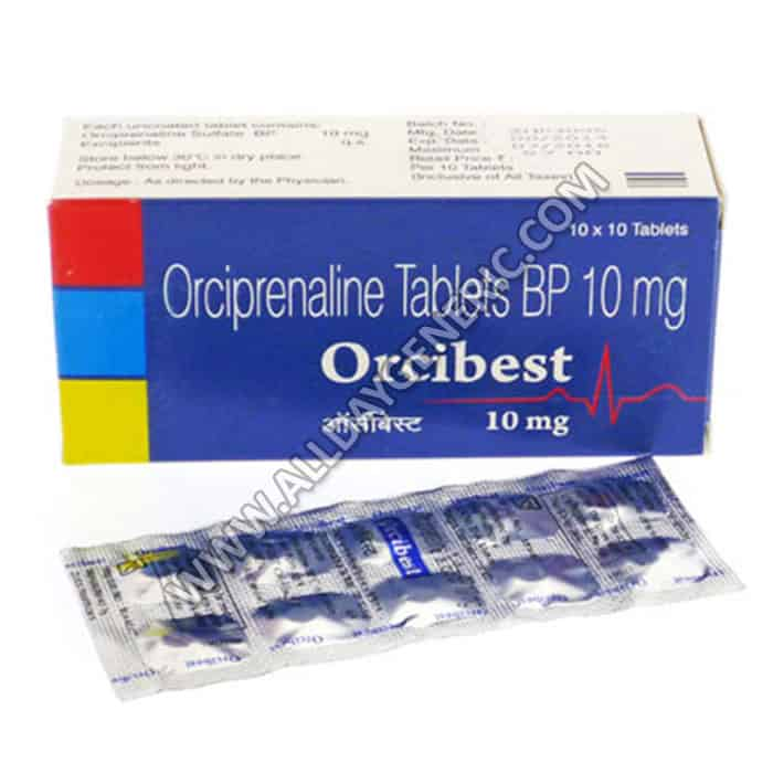 Orcibest 10 mg Tablet, Orcibest 10mg, Orciprenaline