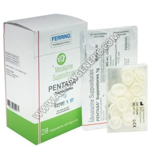 Pentasa Suppository, Mesalazine Suppository
