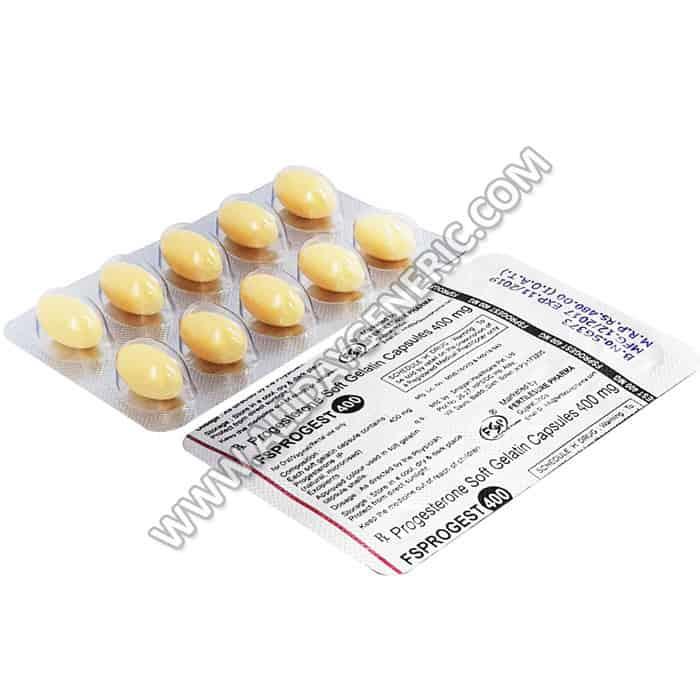 Progesterone Soft Gelatin Capsules 400 mg, Progesterone 400 mg