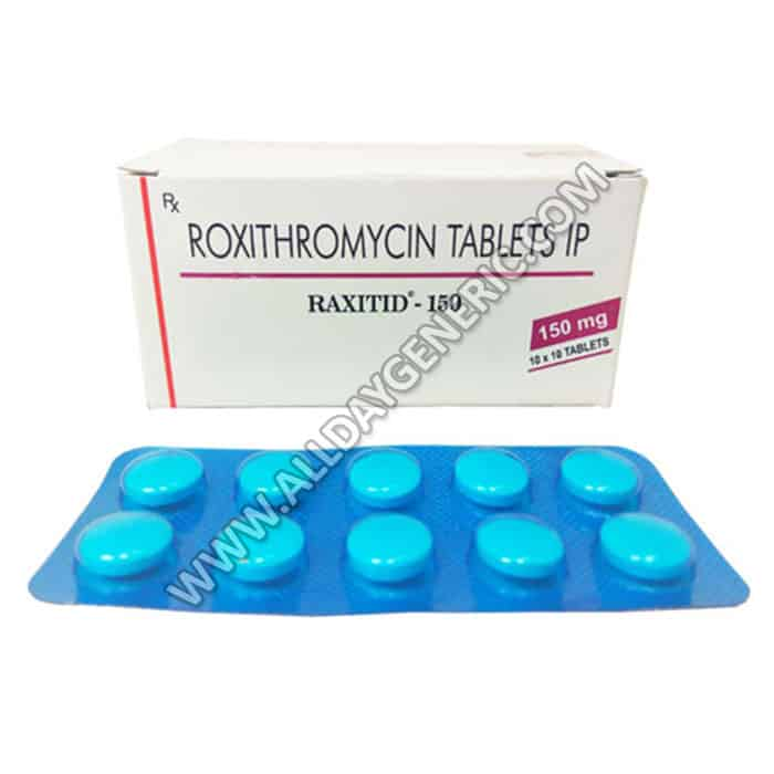 Raxitid 150 mg tablet (Roxithromycin)