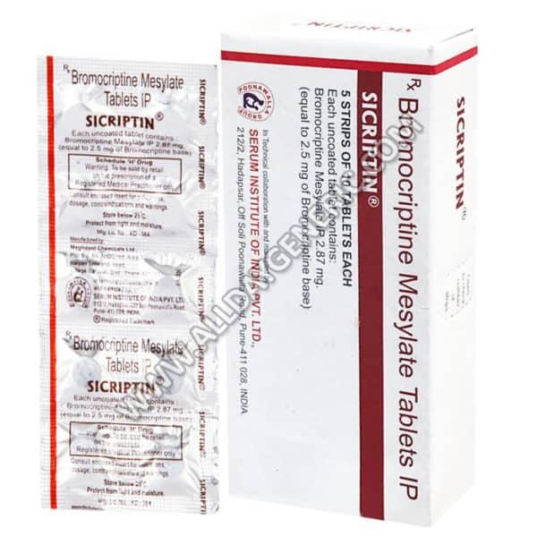 Sicriptin 2.5 mg