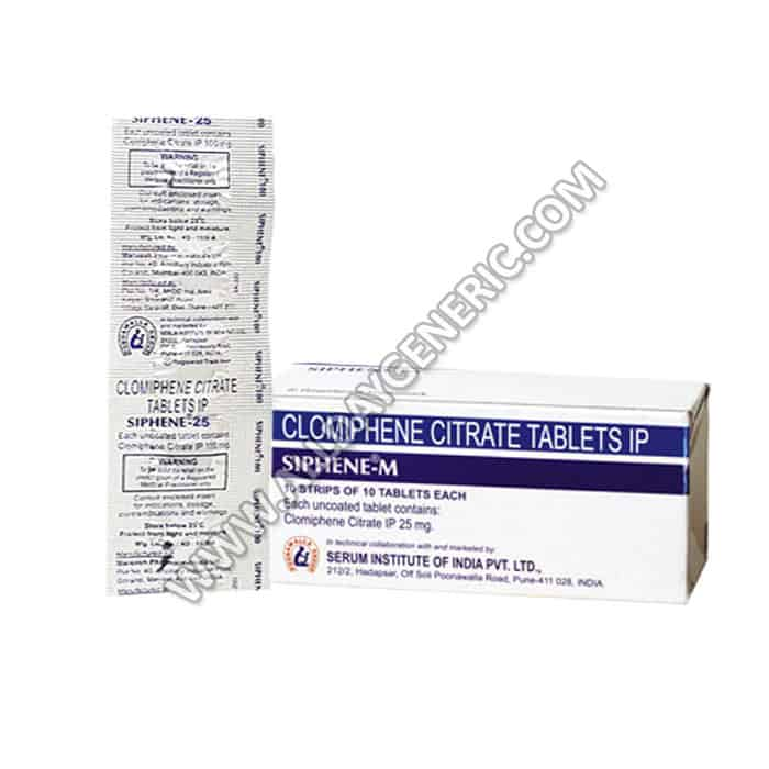 Siphene M 25 mg, Clomiphene Tablets, Infertility Tablets