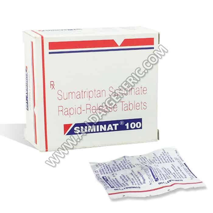 Sumatriptan (Imitrex), Suminat 100 mg