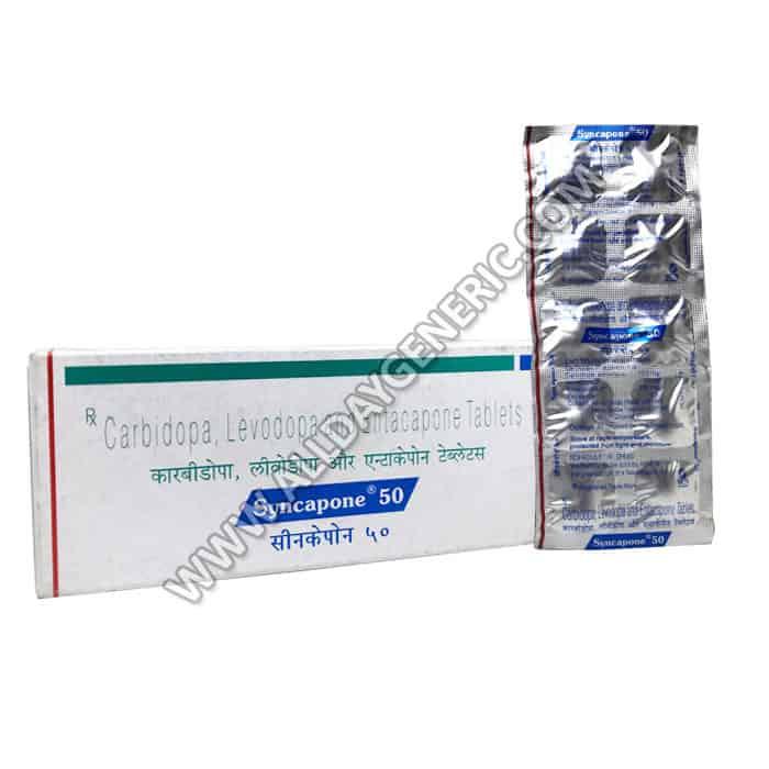 Syncapone 50, carbidopa levodopa entacapone