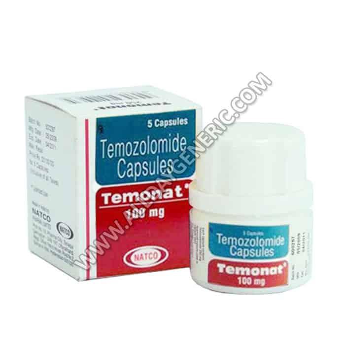 Temonat 100 mg Capsule (temozolomide)