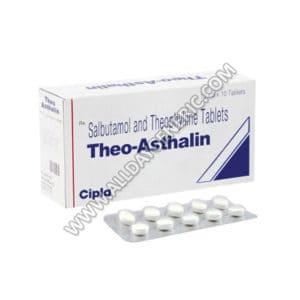 Theo | Theo-Asthalin Tablet (Salbutamol / Theophylline)