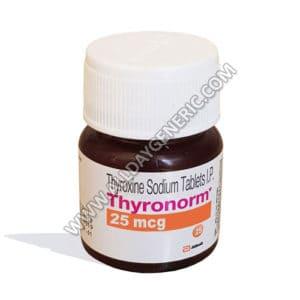 Thyronorm 25 mcg (Thyroxine Tablets)